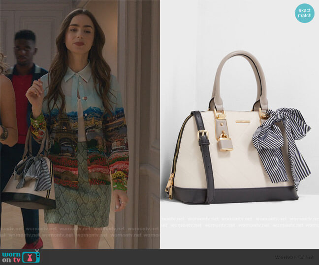 Handful Bag by Aldo worn by Emily Cooper (Lily Collins) on Emily in Paris