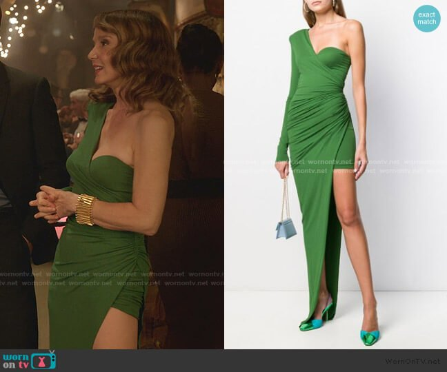 Asymmetric Evening Dress by Alexandre Vauthier  worn by Sylvie (Philippine Leroy-Beaulieu) on Emily in Paris