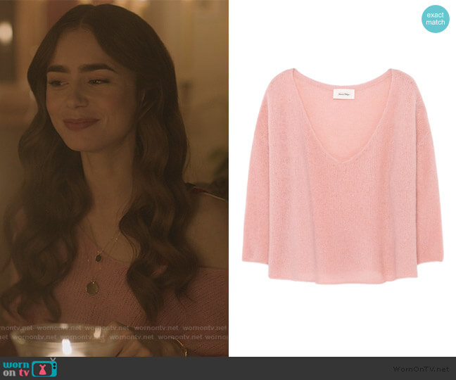 Vapcloud Pullover by American Vintage worn by Emily Cooper (Lily Collins) on Emily in Paris