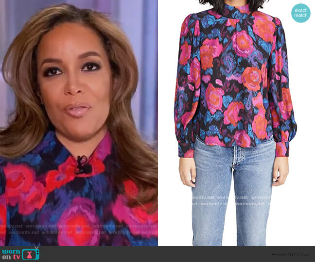 Halls Mock Top by Apiece Apart worn by Sunny Hostin  on The View