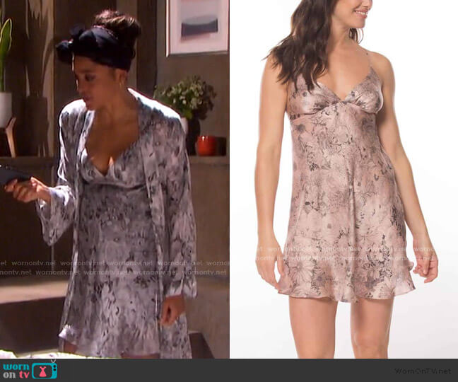 Arabella Chemise by Christine Lingerie worn by Lani Price (Sal Stowers) on Days of our Lives