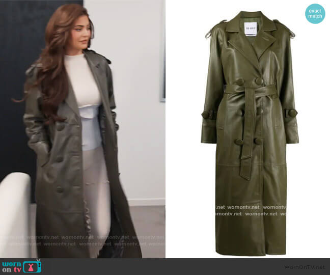 Double Breasted Trench Coat by Attico worn by Kylie Jenner  on Keeping Up with the Kardashians