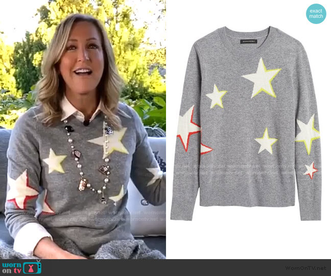 Star Sweater by Banana Republic worn by Lara Spencer  on Good Morning America