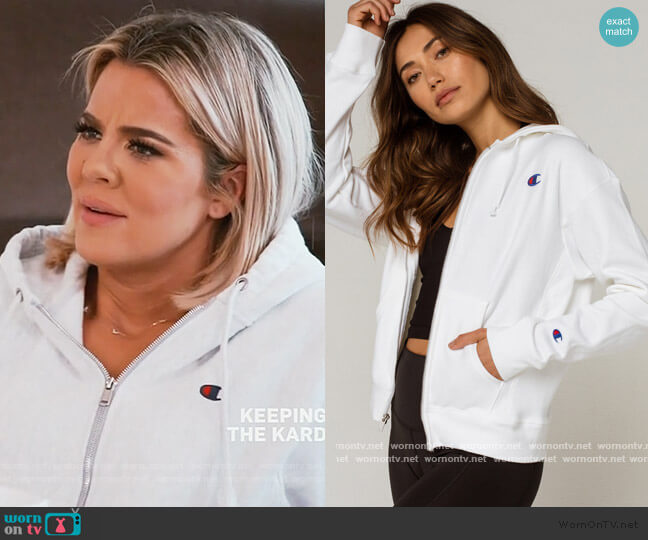 Reverse Weave Womens Zip Hoodie by Champion worn by Khloe Kardashian  on Keeping Up with the Kardashians