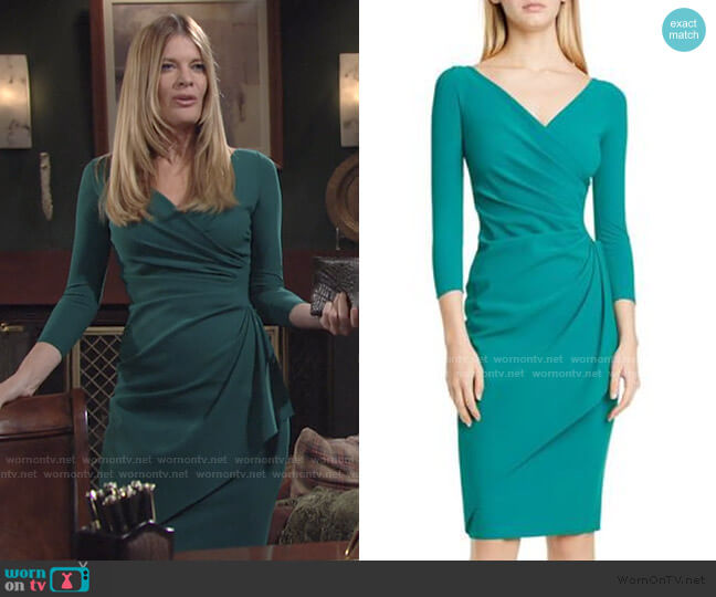 Charisse Dress by Chiara Boni La Petite Robe worn by Phyllis Summers (Michelle Stafford) on The Young & the Restless