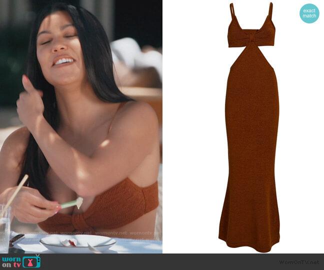 Serita Cut-Out Knit Maxi Dress by Cult Gaia worn by Kourtney Kardashian  on Keeping Up with the Kardashians