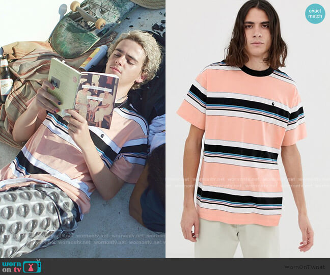 Ozark Short Sleeve Stripe T-Shirt by Carhartt WIP worn by Fraser Wilson (Jack Dylan Grazer) on We Are Who We Are