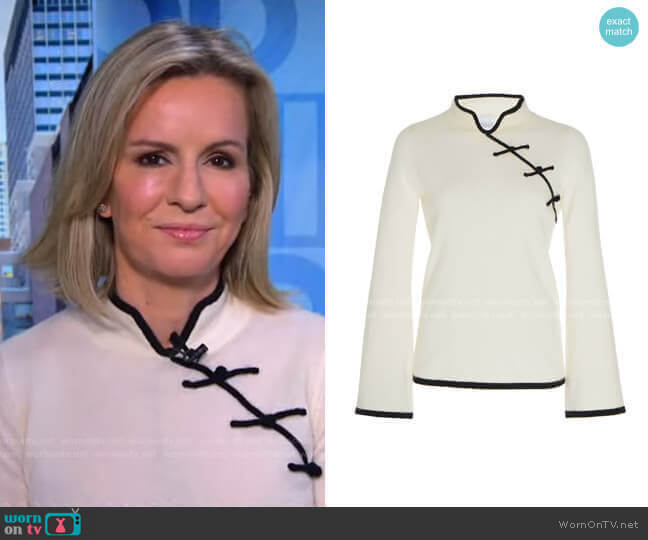 Castor Two-Tone Cashmere Top by Madeleine Thompson worn by Dr. Jennifer Ashton  on Good Morning America