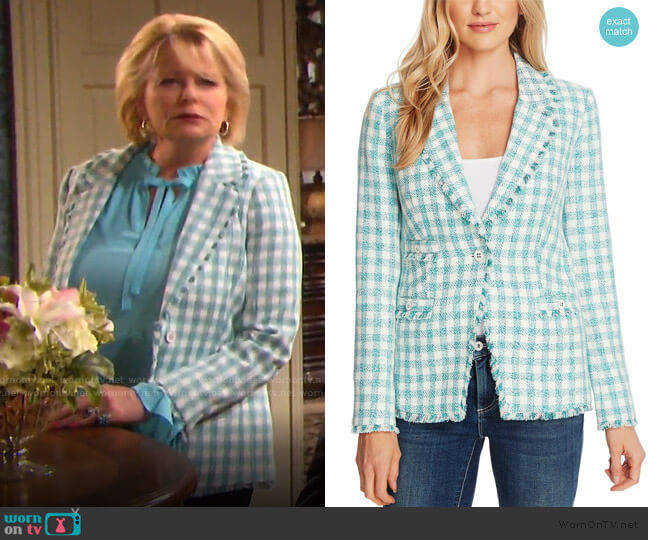 Gingham Tweed Jacket by CeCe by Cynthia Steffe worn by Bonnie Lockhart (Judi Evans) on Days of our Lives