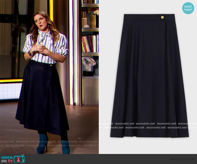 70's Midi Skirt by Celine worn by Drew Barrymore  on The Drew Barrymore Show