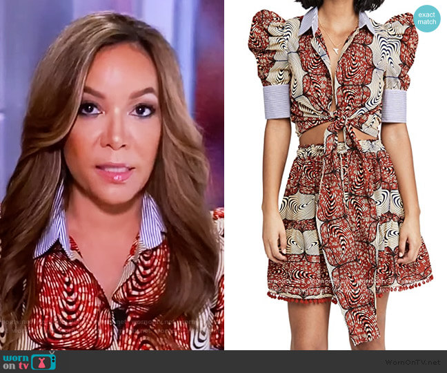 Selah Top by Chen Burkett worn by Sunny Hostin  on The View