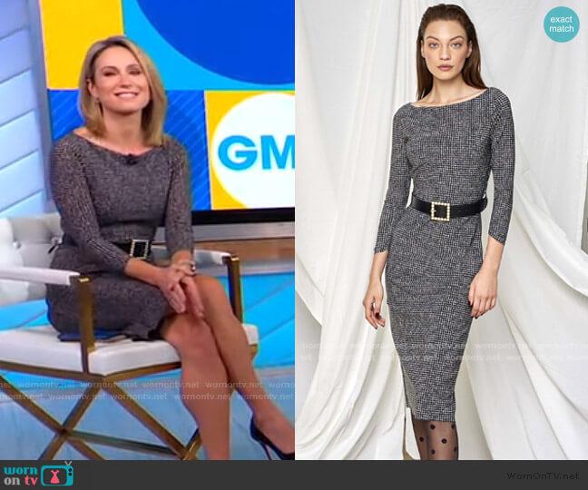 Lorne Dress by Chiara Boni La Petite Robe  worn by Amy Robach  on Good Morning America