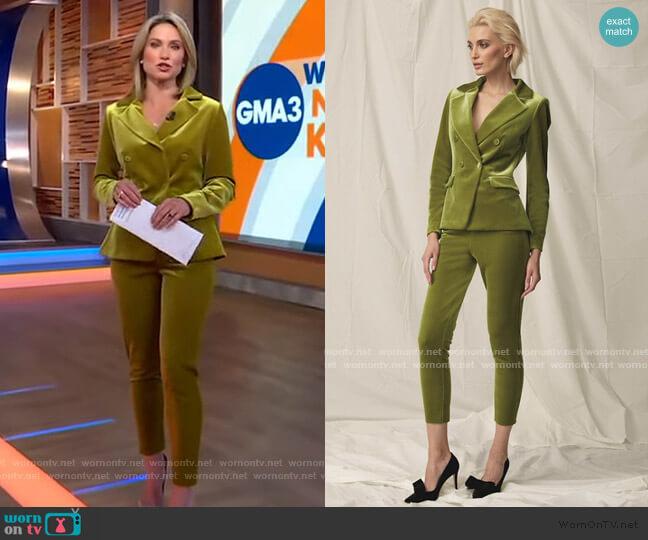 Style #085 by Chiara Boni La Petite Robe worn by Amy Robach  on Good Morning America
