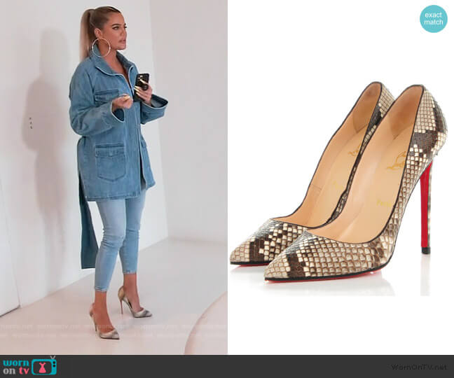 Python Pigalle Pumps by Christian Louboutin worn by Khloe Kardashian  on Keeping Up with the Kardashians