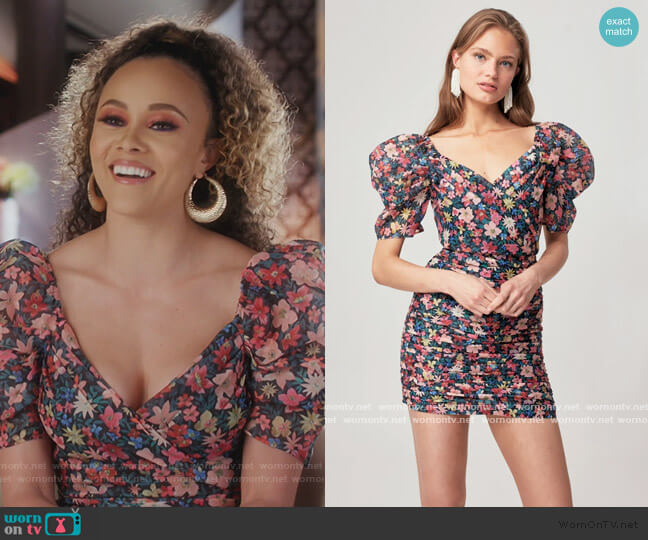 And Ever More Short Balloon Sleeve Mini Dress by C/meo Collective worn by Ashley Darby  on The Real Housewives of Potomac
