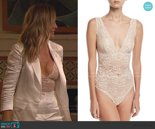 Pret a Porter Lace Bodysuit by Cosabella worn by Clare Crawley  on The Bachelorette