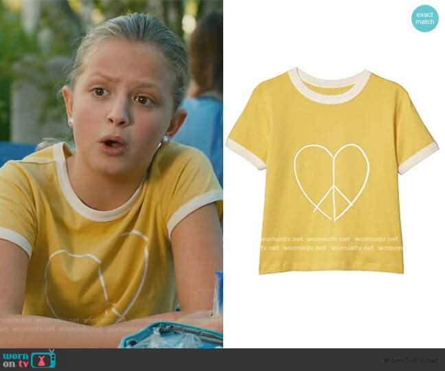 Free Ringer Tee by Cotton On worn by Anna-Kat Otto (Giselle Eisenberg) on American Housewife
