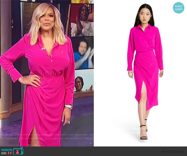 Wrap Shirtdress by Cushnie for Target worn by Wendy Williams  on The Wendy Williams Show