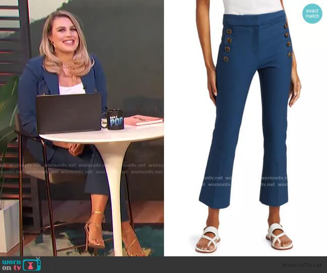 Adeline Cropped Flare Trousers by Derek Lam 10 Crosby worn by Carissa Loethen Culiner  on E! News
