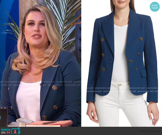 Eliza Double-Breasted Jacket by Derek Lam 10 Crosby worn by Carissa Loethen Culiner  on E! News