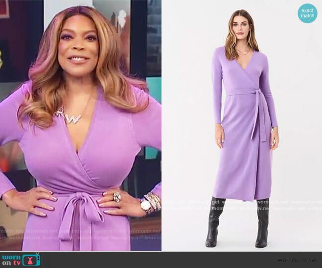 Astrid Wrap Dress by Diane Von Furstenberg worn by Wendy Williams  on The Wendy Williams Show
