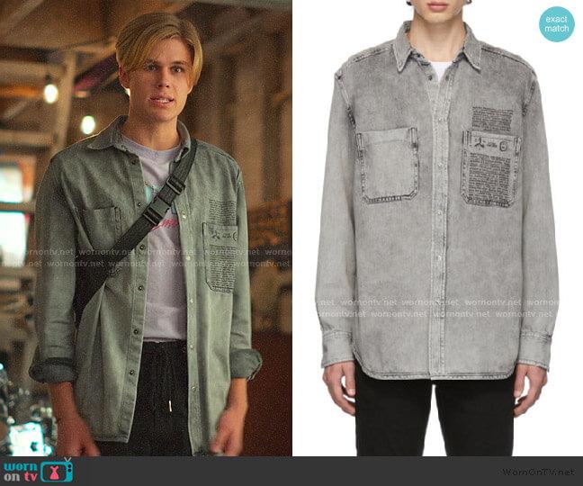 Denim D-Milov Shirt by Diesel worn by Owen Joyner on Julie and the Phantoms