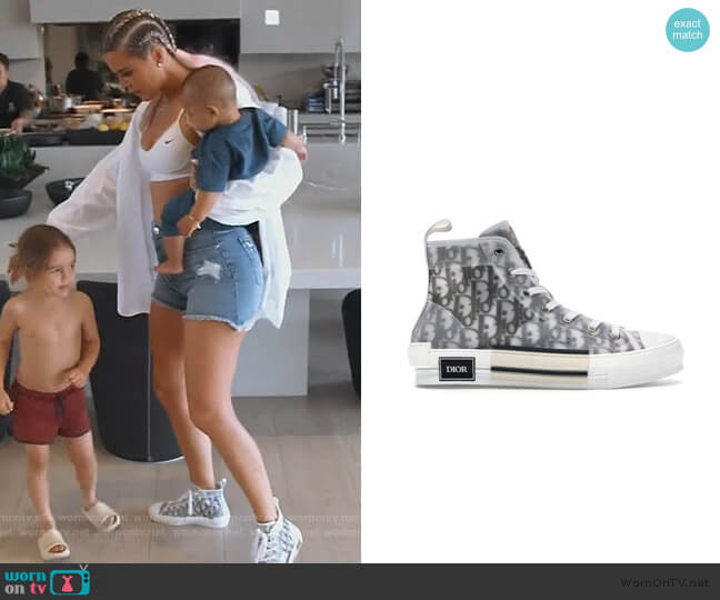 B23 High Top Logo Oblique by Dior worn by Khloe Kardashian  on Keeping Up with the Kardashians