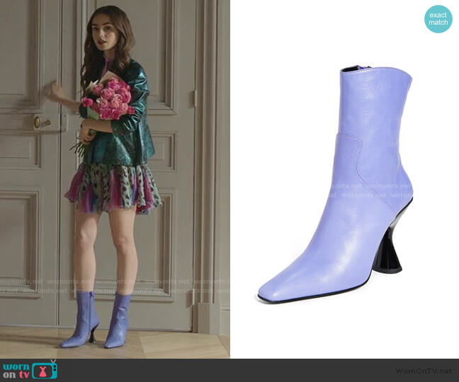 Stainless Boots by Dorateymur worn by Emily Cooper (Lily Collins) on Emily in Paris