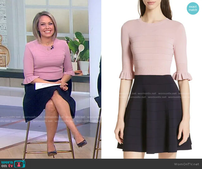 Dyana Dress by Ted Baker worn by Dylan Dreyer  on Today
