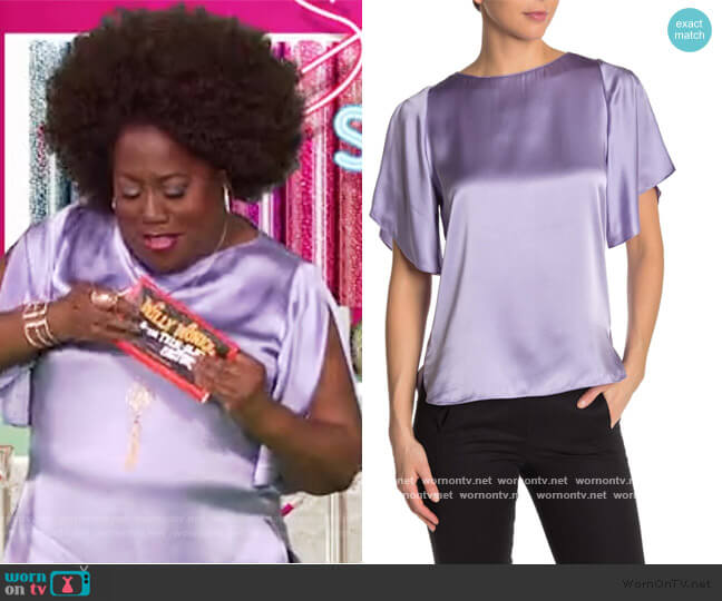 Tamra Silk Blouse by Elie Tahari worn by Sheryl Underwood  on The Talk