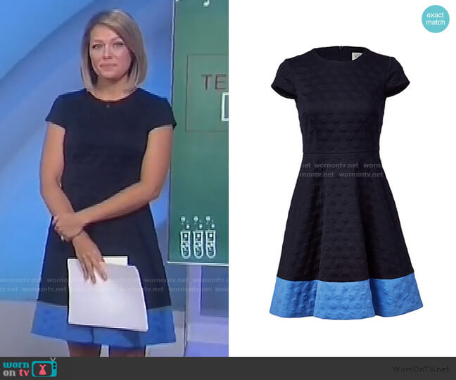 Textured Knit Fit and Flare Dress by Eliza J worn by Dylan Dreyer  on Today