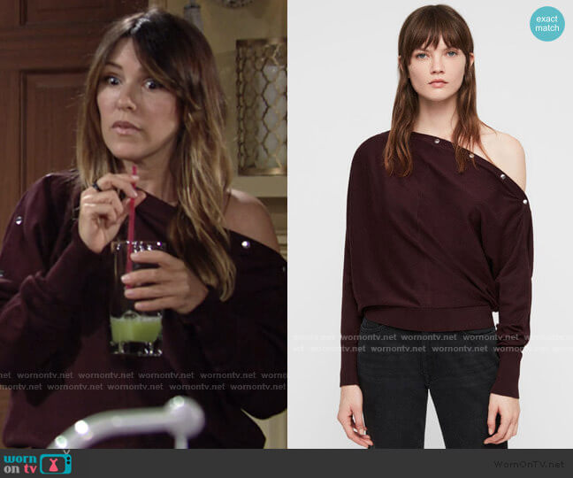 Elle Sweater by All Saints worn by Chloe Mitchell (Elizabeth Hendrickson) on The Young & the Restless