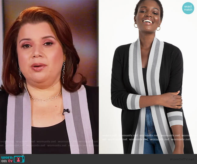 Colorblock Cardigan by Eloquii worn by Ana Navarro  on The View