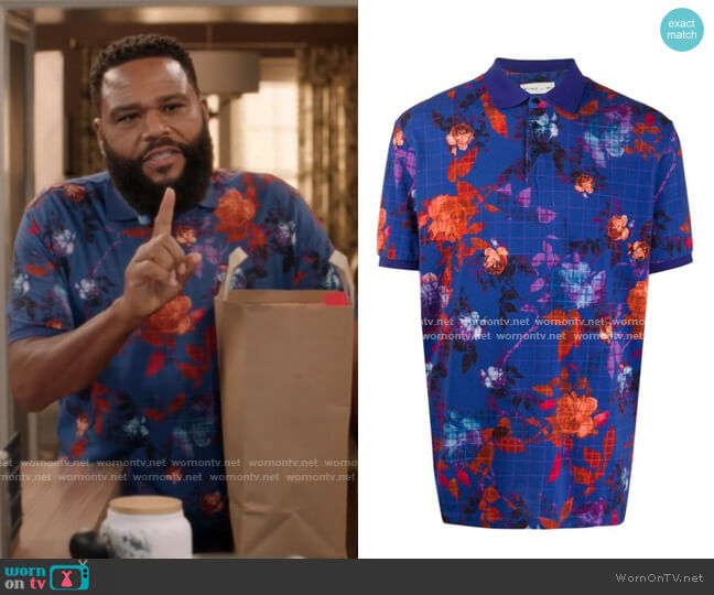 Floral Polo Shirt by Etro worn by Andre Johnson (Anthony Anderson) on Blackish