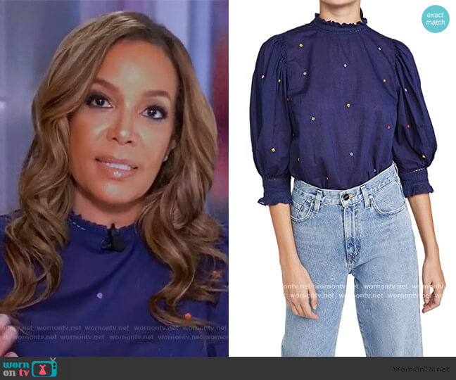 Embroidered Blouse by Farm Rio worn by Sunny Hostin  on The View