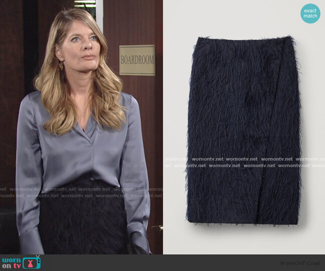 Feathered Wrap Skirt by Cos worn by Phyllis Summers (Michelle Stafford) on The Young & the Restless
