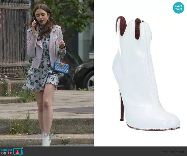 Freed Boots by Vivienne Westwood worn by Emily Cooper (Lily Collins) on Emily in Paris