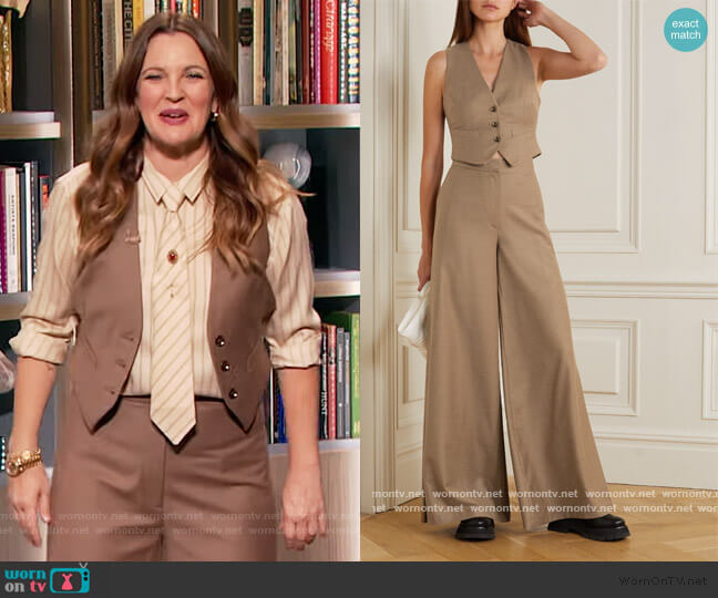 Toluca wool and cashmere-blend vest and Pants by Gauge81 worn by Drew Barrymore  on The Drew Barrymore Show