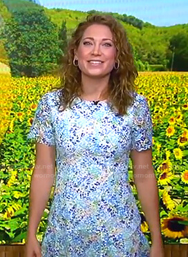Ginger's floral lace dress on Good Morning America