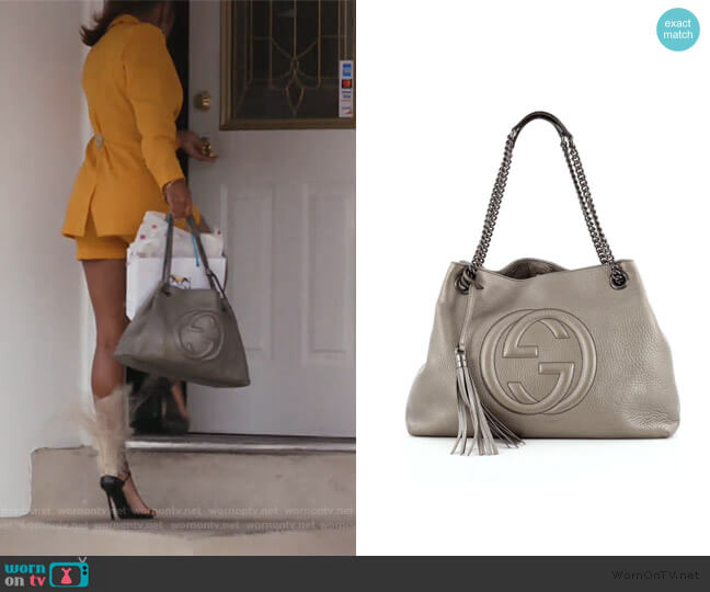 Soho Chain Strap Bag by Gucci worn by Candiace Dillard Bassett  on The Real Housewives of Potomac