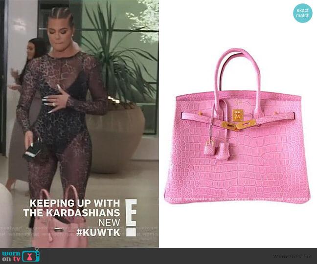 Birkin 35 Matte Crocodile by Hermes worn by Khloe Kardashian  on Keeping Up with the Kardashians