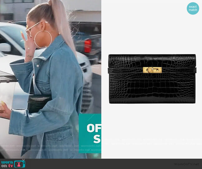Kelly Wallet by Hermes worn by Khloe Kardashian  on Keeping Up with the Kardashians