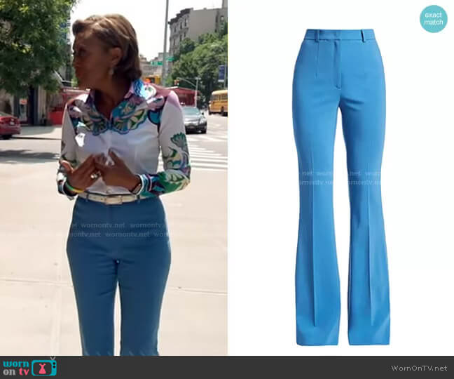 High-Waisted Flared Trousers by Michael Kors worn by Robin Roberts  on Good Morning America