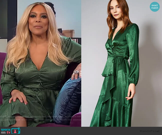Alessi Wrap Dress by Hutch worn by Wendy Williams  on The Wendy Williams Show