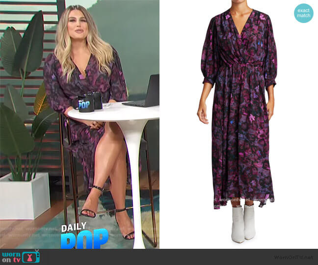 Floral Midi Dress by IRO worn by Carissa Loethen Culiner  on E! News