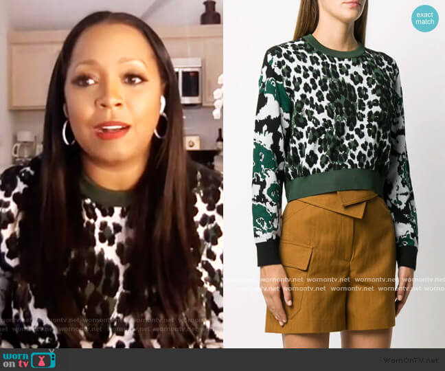 leopard intarsia jumper by Kenzo worn by Keishia Knight on E! News Daily Pop