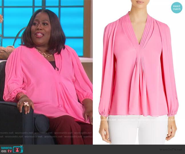 Jordana Silk Blouse by Kobi Halperin worn by Sheryl Underwood  on The Talk