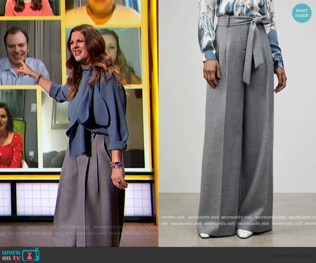 Euphoric Melange Tillary Wide Leg Pants by Lafayette 148 worn by Drew Barrymore  on The Drew Barrymore Show