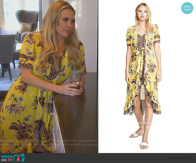 Safari Wrap Dress by Le Superbe worn by Braunwyn Windham-Burke  on The Real Housewives of Orange County