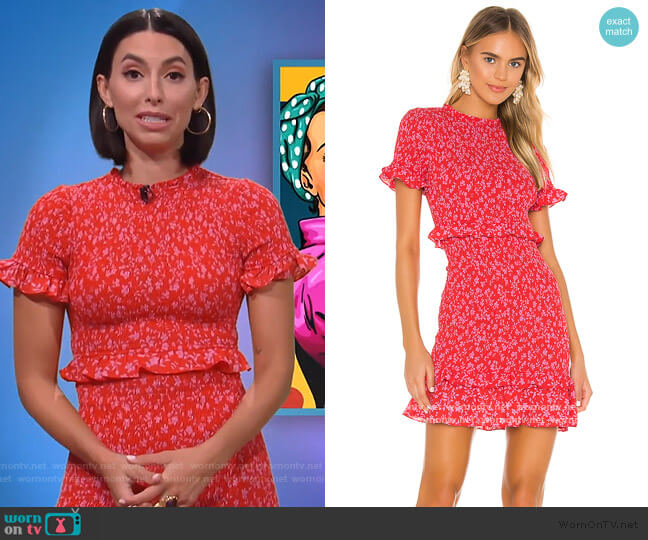 Faye Dress by Likely worn by Jade Catta-Preta  on The Soup